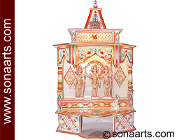 Marble Temple Manufacturer Marble Home Temple Gold