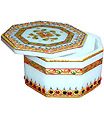 Indian Marble Box with hand emboss painting