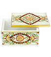 Marble Jewellry Box with kundan painting