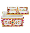 Marble Box with kundan emboss painting work