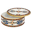 Marble oval shape Box with Hand Painting