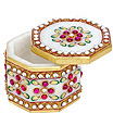 Marble Small Gift box using kundan painting work