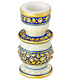 Marble candle stand with kundan painting work