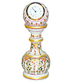 Marble Stand Watch with leaf flower painting