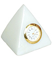Pyramid clock from Spotless White Marble