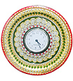 Marble round plate watch using kundan painting