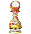 Beautiful marble Clock using kundan painting work
