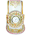 Decorative Mobile Stand Clock with emboss painting