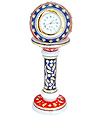 Marble Pillar watch with using emboss painting