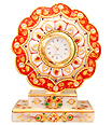 Marble Flower watch using beautiful painting work