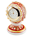 Marble clock Carved from makrana Marble