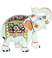 Marble Elephant with Beautiful painting work