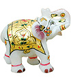 Marble elephant using Meenakari painting work