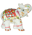 Decorative elephant statue with hand painting