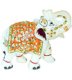 Indian elephant statue using Hand Painting working