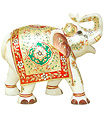 Large elephant statues carved from white marble
