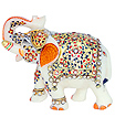 Marble welcome elephant with beautiful painting