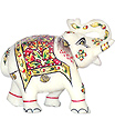 Buy elephant statue carved in white marble