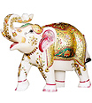 Decorative Elephant from Spotless White Marble
