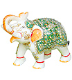stone elephant statue from white marble