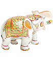 marble elephant figurines with emboss painting