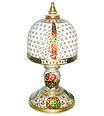 Beautiful Lamp with carving and Meenakari painting