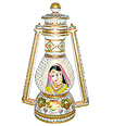 Lantern using meenakari and woman painting