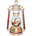 Decorative Marble lantern Lamp using painting work