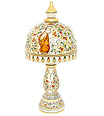 Marble stone lamp with animal painting work