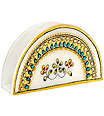 Marble napkin holder with kundan painting work