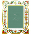Handicraft photo frame carved from white marble
