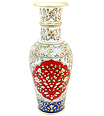Hand painted marble flower vase