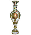 White marble vase with meenakari painting