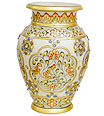 Exquisite decorative vase from White Marble