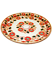 Decorative pooja plate with painting work
