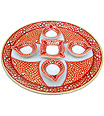 Handmade aarti thali using Red Shade painting work