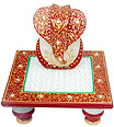 Decorative Ganesh with chowki from Spotless Marble