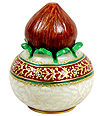 Decorative Marble pooja Kalash for gifting