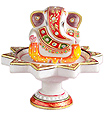 Marble revolving ganesh with hand painting
