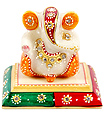 Decorative Marble ganesh with Hand painting work