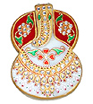 White Marble Roli chawal in Ganesh shape design