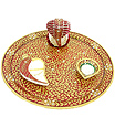 Beautiful puja thali from Marble Stone