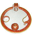 Decorative Pooja thali with beautiful painting work