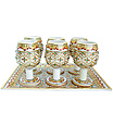 Decorative Marble wine cup set with painting