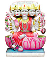 Marble Gayatri Statue from White Marble