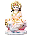 Marble Stone Gayatri statue from White Marble
