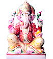 Exquisite Ganesha from White Marble
