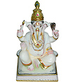 Ganesh Statue carved out from White Marble