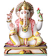 Marble Ganesh Statue for temple and home