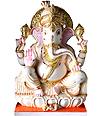 Exquisite Ganesh Statue from White Marble